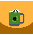 flat icon design collection cup of cappuccino vector image vector image