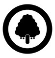 fruit tree icon black color in circle vector image vector image