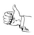 Gesture everything is fine thumb up business vector image vector image