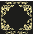 gold frame pattern black background vector image