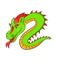 Green chinese dragon icon cartoon style vector image vector image