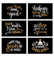 hand lettering christmas card collection with vector image