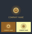 house shine realty company logo vector image