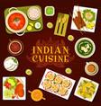 indian food restaurant meals menu cover vector image vector image