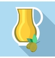 Jug of olive oil icon flat style vector image vector image