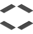 keyboard in isometric view from four sides vector image vector image