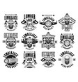 lumberjack and woodworks vintage emblems vector image vector image