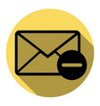 mail sign flat black icon vector image vector image