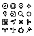 Map GPS and Navigation icons set vector image