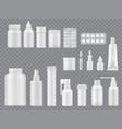 medical packages bottles transparent background vector image vector image