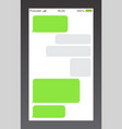 messenger short message service bubbles text chat vector image vector image