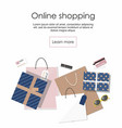 online shopping shopping bags and others vector image vector image