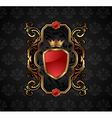 ornate decorative golden frame vector image vector image