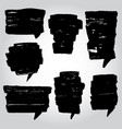 painter set of speech bubble vector image vector image