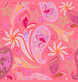 paisley and butterfly - seamless pattern vector image
