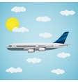 Passenger airplane in the sky vector image vector image