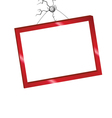 picture frame in red color vector image