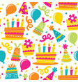 retro birthday party seamless pattern background vector image vector image