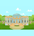romantic palace for a princess vector image vector image
