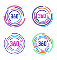 round 360 degrees signs circle diagram 360 vector image vector image