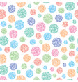 seamless pattern round colorful circles vector image