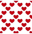seamless red heart vector image
