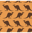 Seamless with kangaroo vector image
