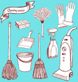 Sketch cleaning set vector image vector image