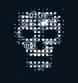 skull digital background vector image
