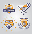 soccer isolated emblems or logos part 1 vector image vector image