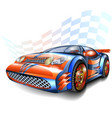 speeding racing car vector image