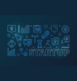 startup colored horizontal outline vector image