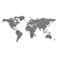 stylized map world vector image vector image