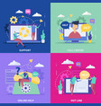 support service flat design concept vector image
