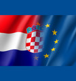 symbol croatia is eu member vector image vector image