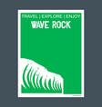 wave rock perth australia monument landmark vector image