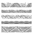 wave seamless patterns vector image vector image