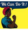 We can do it vintage poster black working woman