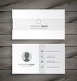 white minimal business card vector image vector image