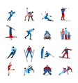 Winter Sportsmen Set vector image vector image