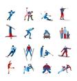 Winter Sportsmen Set vector image