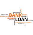 word cloud - bank loan vector image