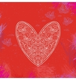ornamental heart shape vector image