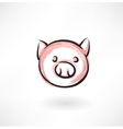 pig grunge icon vector image