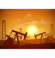 Oil Field Poster vector image