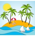 a summer vacation vector image vector image