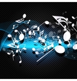 Abstract musical background with carbon texture vector image vector image