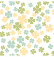abstract seamless pattern with colorful shamrock vector image vector image