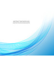 abstract wavy background blue wave vector image vector image