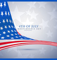 american flag in wave style 4th of july background vector image vector image